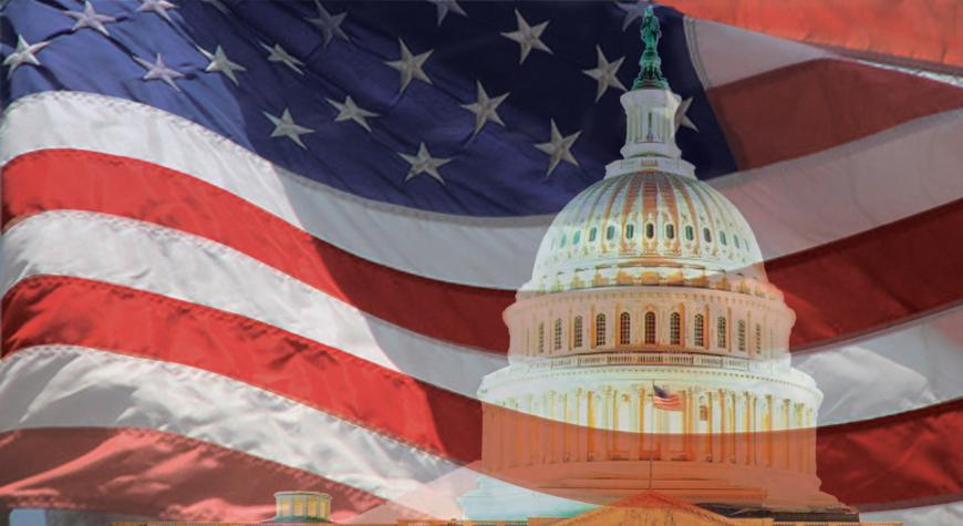 photo of Capitol and American flag