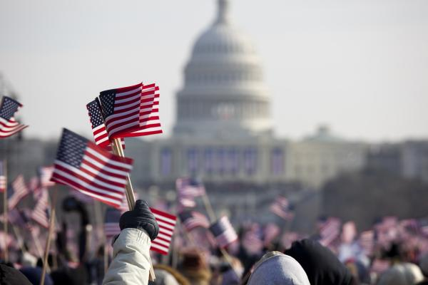 photo of American Flag and Capitol
